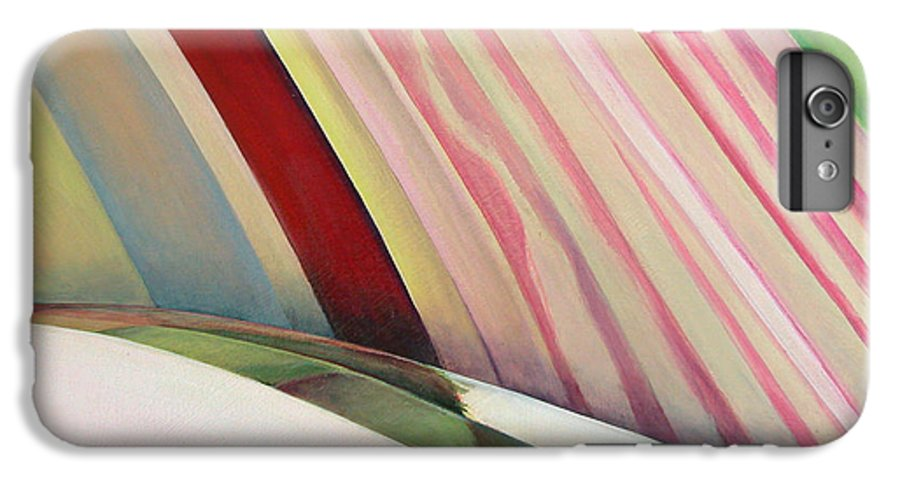 Abstract IPhone 6 Plus Case featuring the painting Sens 1 by Muriel Dolemieux