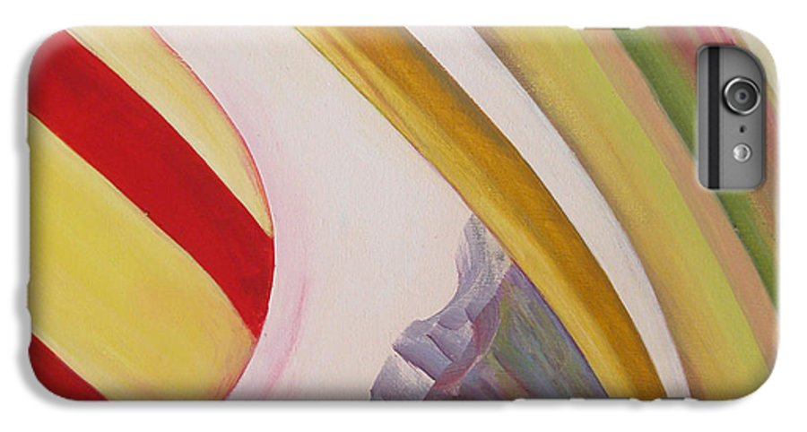 Abstract IPhone 6 Plus Case featuring the painting Sens 4 by Muriel Dolemieux