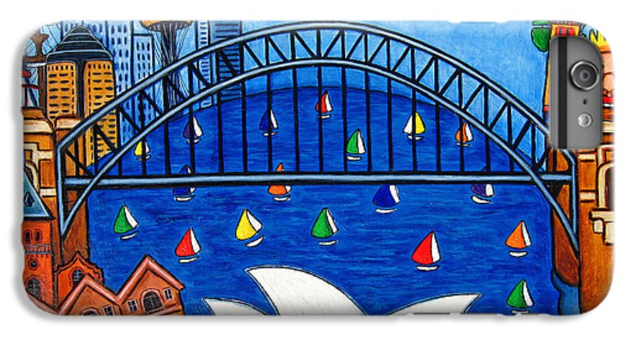 House IPhone 6 Plus Case featuring the painting Sensational Sydney by Lisa Lorenz