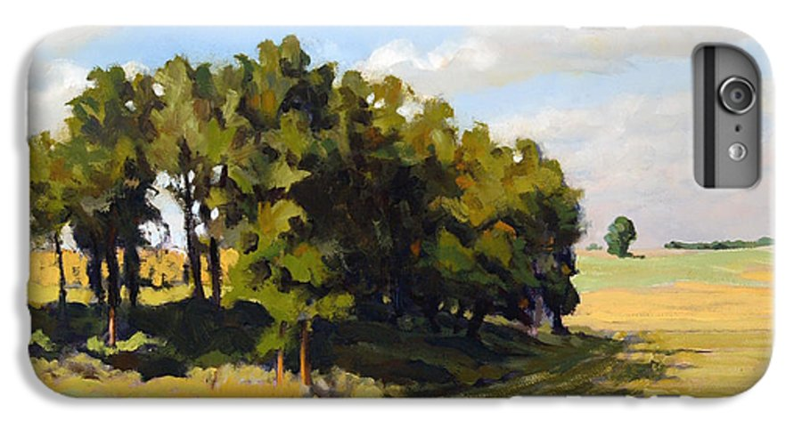 Landscape IPhone 6 Plus Case featuring the painting September Summer by Bruce Morrison