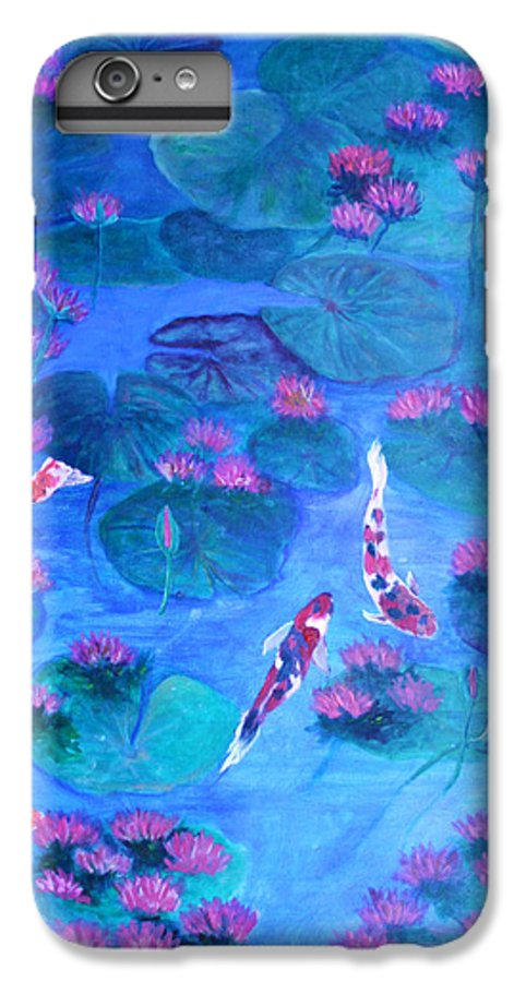 Lily Pads IPhone 6 Plus Case featuring the painting Serene Pond by Ben Kiger