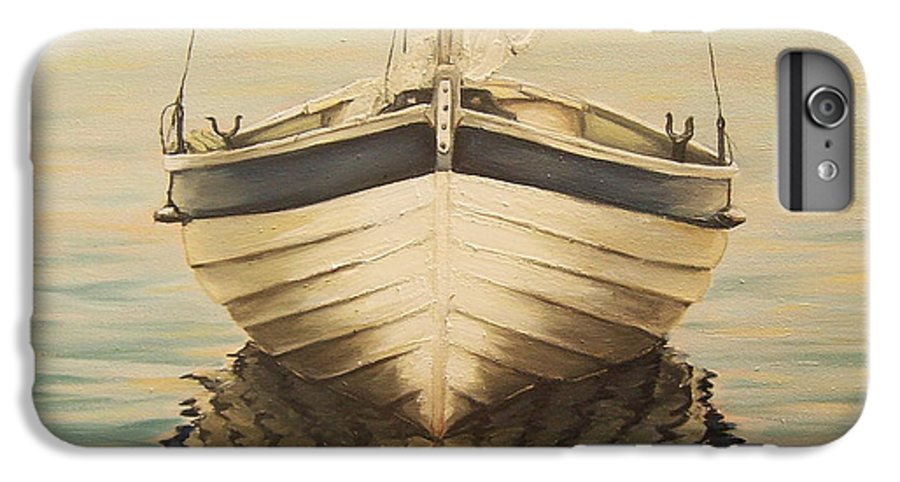 Seascape IPhone 6 Plus Case featuring the painting Serenity by Natalia Tejera
