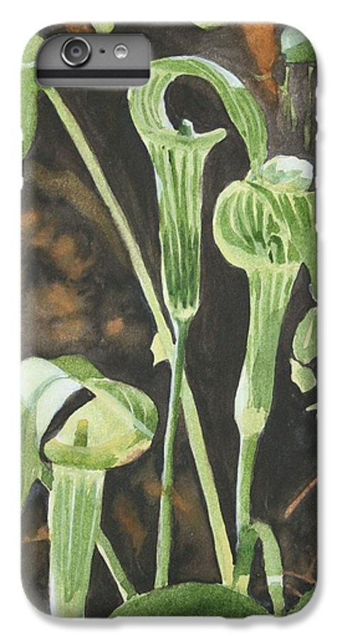 Woods IPhone 6 Plus Case featuring the painting Sermon In The Woods by Jean Blackmer