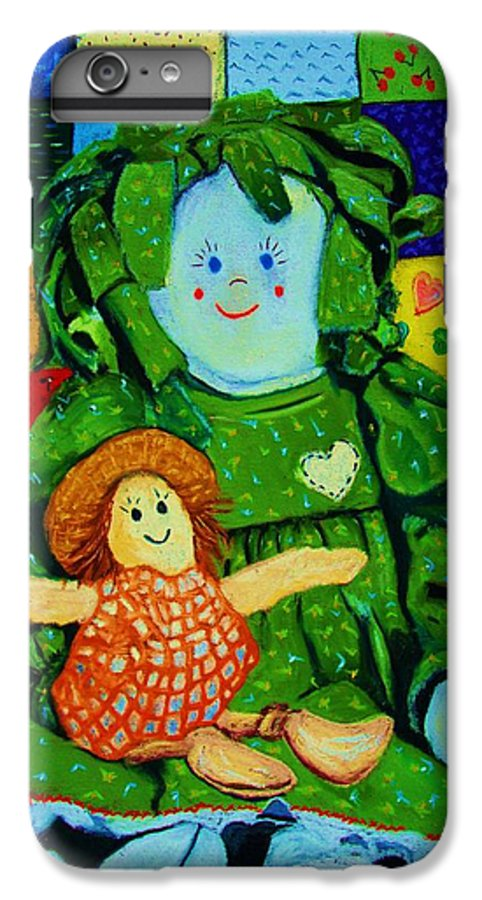 Dolls IPhone 6 Plus Case featuring the print Sew Sweet by Melinda Etzold