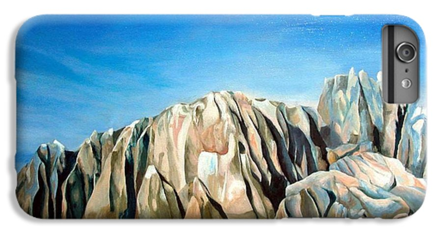 Paysage IPhone 6 Plus Case featuring the painting Seychelles by Muriel Dolemieux