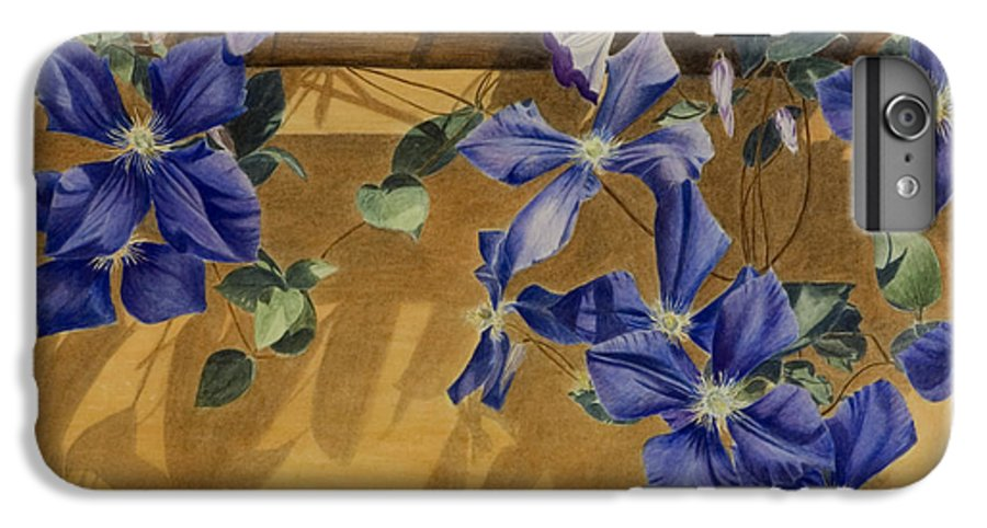 Clematis IPhone 6 Plus Case featuring the painting Shadows Dancing by Nik Helbig