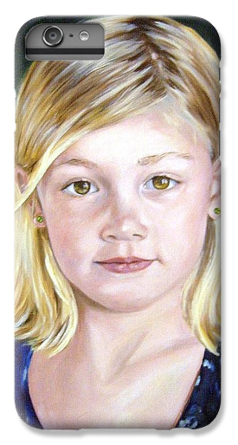 Portrait IPhone 6 Plus Case featuring the painting Shannon by Anne Kushnick