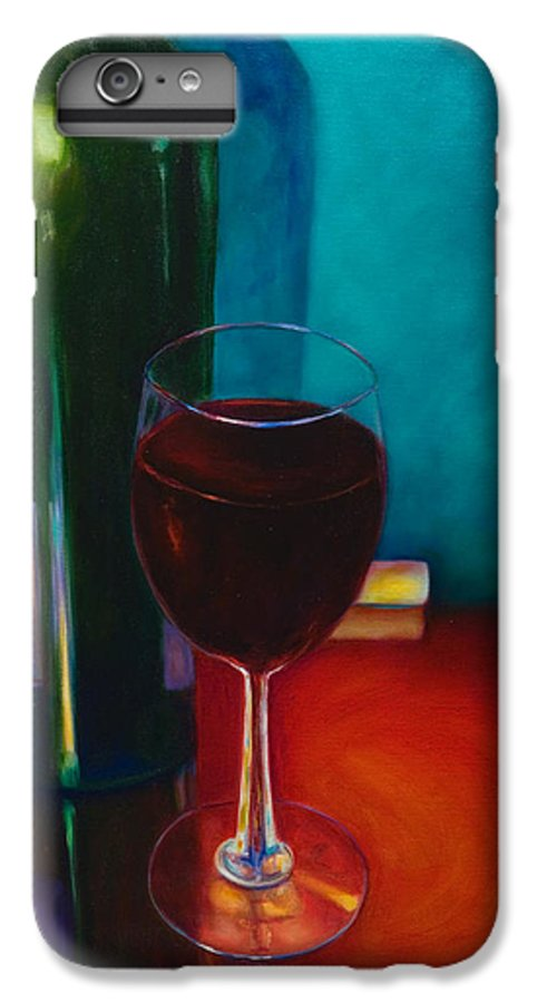 Wine Bottle IPhone 6 Plus Case featuring the painting Shannon's Red by Shannon Grissom
