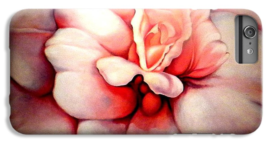 Blooms.large Rose IPhone 6 Plus Case featuring the painting Sheer Bliss by Jordana Sands