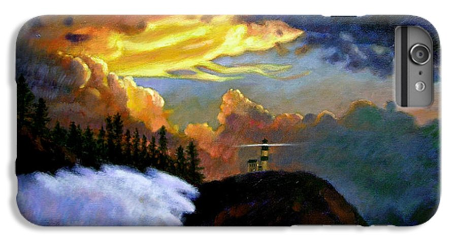 Ocean IPhone 6 Plus Case featuring the painting Shelter From The Storm by John Lautermilch