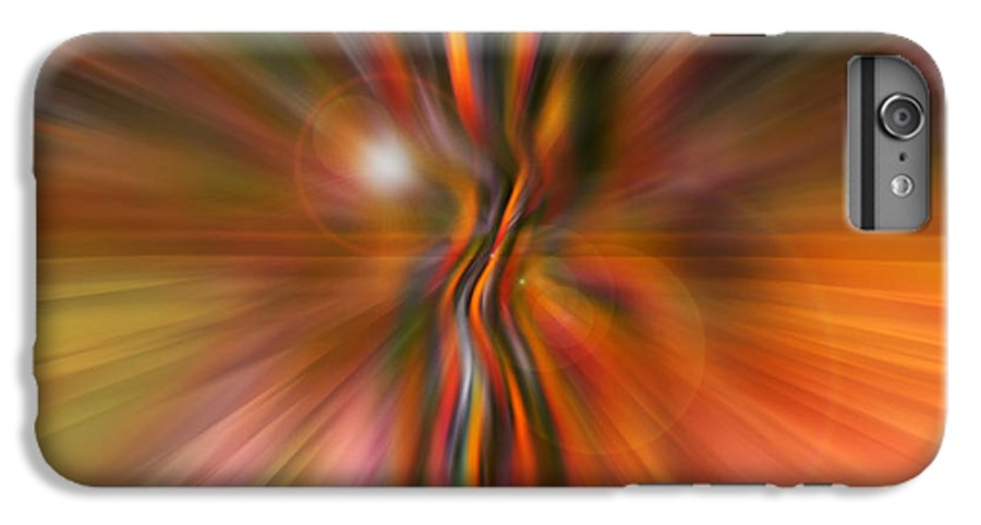 Abstract Art IPhone 6 Plus Case featuring the digital art Shine On by Linda Sannuti