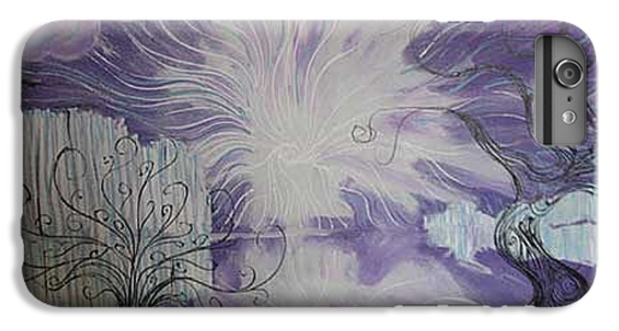Squiggleism IPhone 6 Plus Case featuring the painting Shore Dance by Stefan Duncan