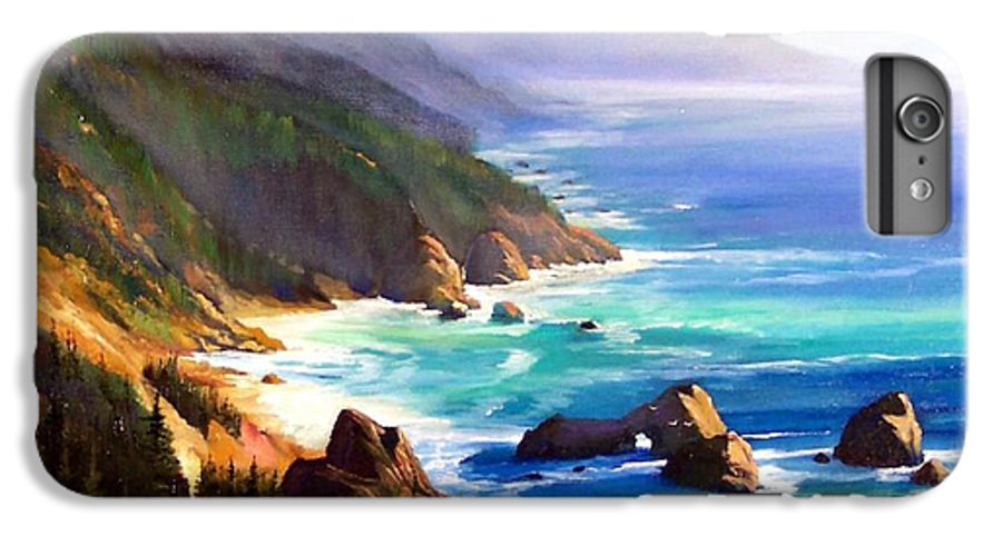 Seascape IPhone 6 Plus Case featuring the painting Shore Trail by Frank Wilson