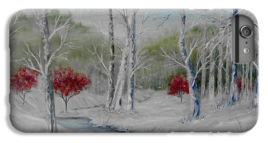 Snow; Winter; Birch Trees IPhone 6 Plus Case featuring the painting Silence by Ben Kiger