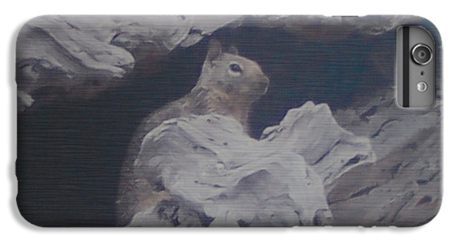 Squirrel IPhone 6 Plus Case featuring the photograph Silent Observer by Pharris Art