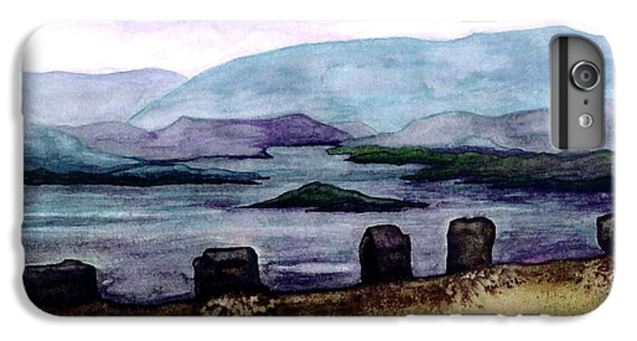 Original Painting IPhone 6 Plus Case featuring the painting Silent Sentinels by Patricia Griffin Brett