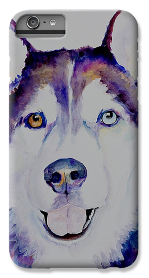 Siberian Husky IPhone 6 Plus Case featuring the painting Simba by Pat Saunders-White