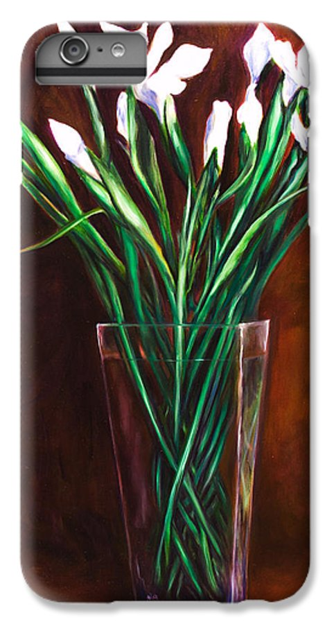 Iris IPhone 6 Plus Case featuring the painting Simply Iris by Shannon Grissom
