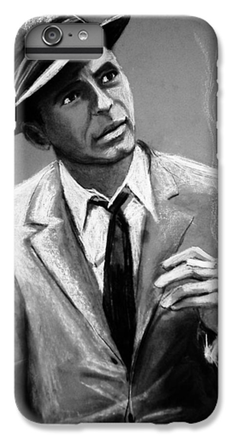 Frank Sinatra IPhone 6 Plus Case featuring the drawing Sinatra by Laura Rispoli