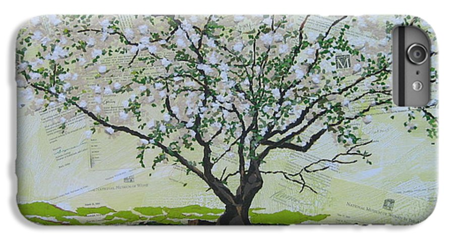 Apple Tree IPhone 6 Plus Case featuring the painting Sincerely-the Curator by Leah Tomaino