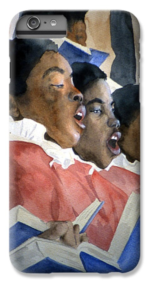 Choir IPhone 6 Plus Case featuring the painting Sing Out Your Joy by Jean Blackmer