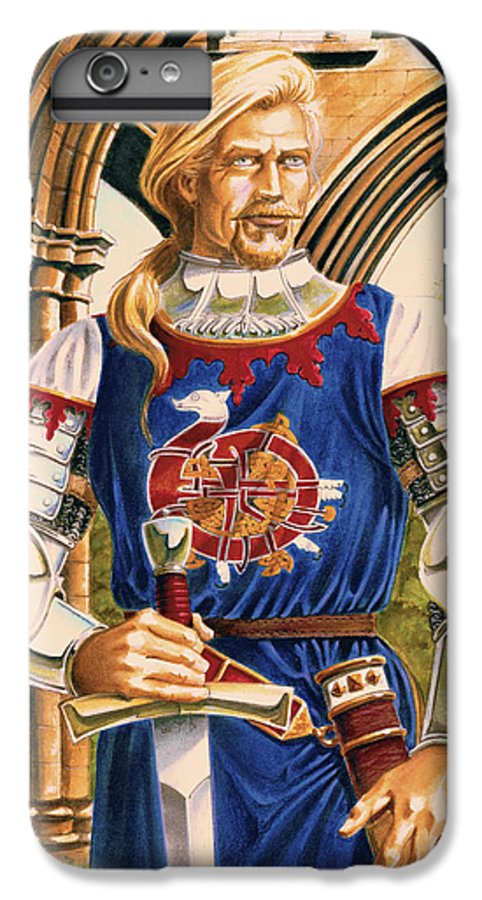 Swords IPhone 6 Plus Case featuring the painting Sir Dinadan by Melissa A Benson