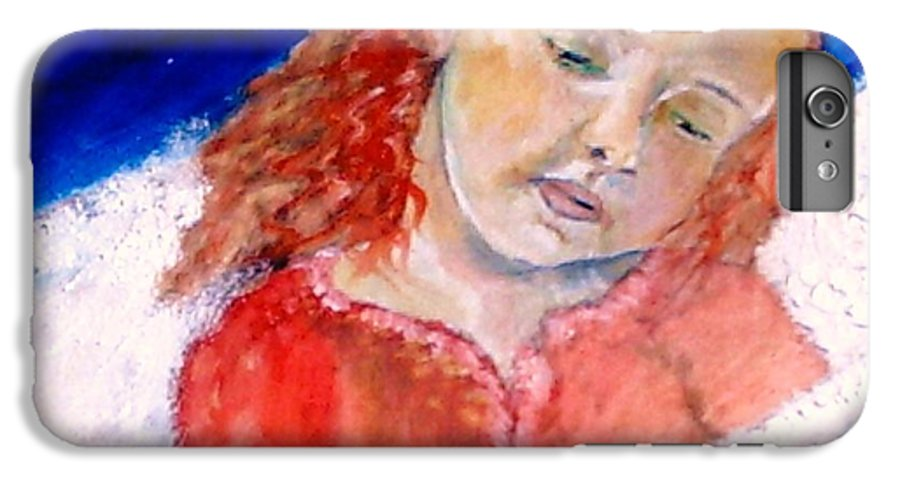 Angels IPhone 6 Plus Case featuring the painting watching the Dreamers by J Bauer