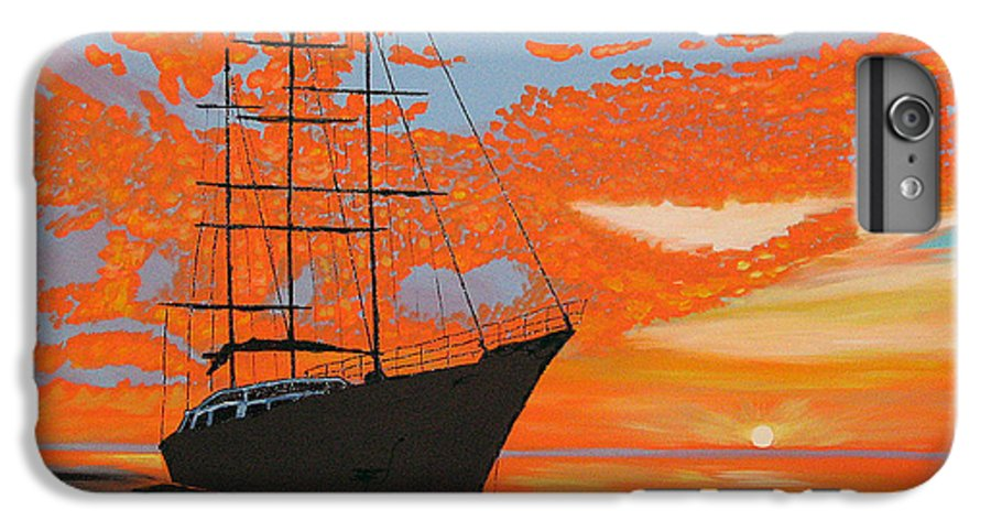 Seascape IPhone 6 Plus Case featuring the painting Sittin' On The Bay by Marco Morales