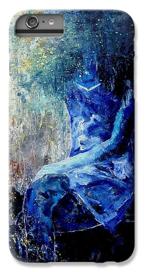 Woman Girl Fashion IPhone 6 Plus Case featuring the painting Sitting Young Girl by Pol Ledent