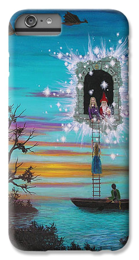 Fantasy IPhone 6 Plus Case featuring the painting Sky Window by Roz Eve