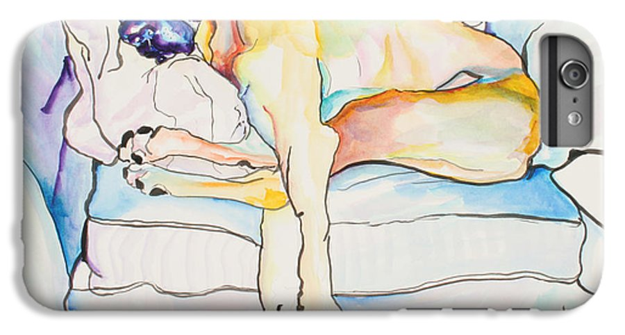 Great Dane IPhone 6 Plus Case featuring the painting Sleeping Beauty by Pat Saunders-White