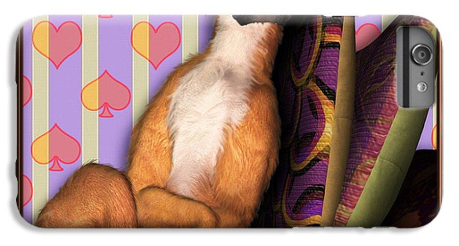 Dog IPhone 6 Plus Case featuring the digital art Sleeping II by Nik Helbig