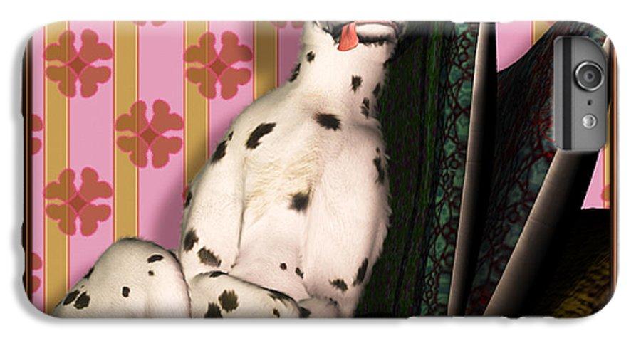 Dalmatian IPhone 6 Plus Case featuring the digital art Sleeping IIi by Nik Helbig