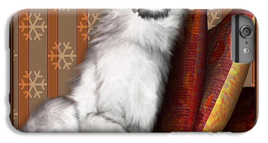 Dog IPhone 6 Plus Case featuring the digital art Sleeping Iv by Nik Helbig