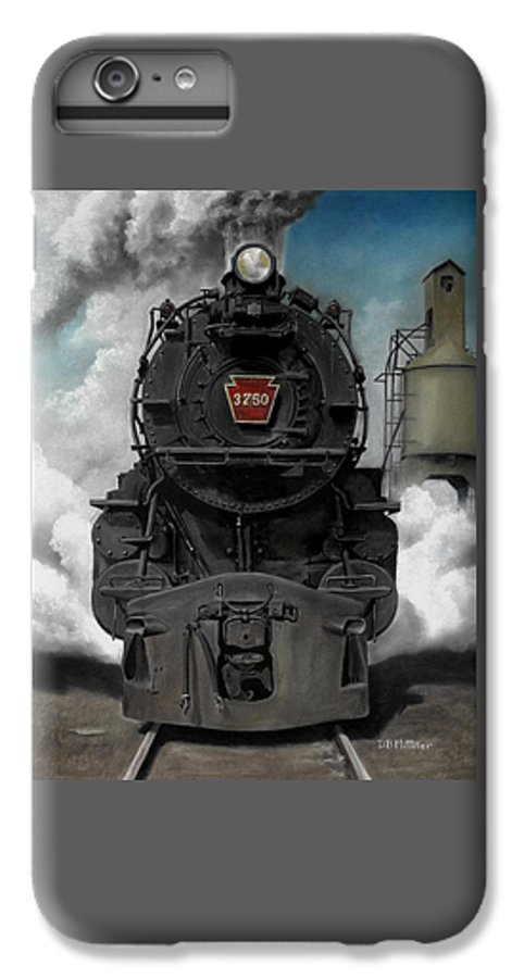 Trains IPhone 6 Plus Case featuring the painting Smoke And Steam by David Mittner