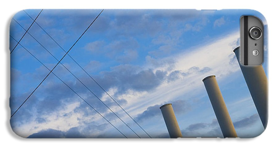 Blue IPhone 6 Plus Case featuring the photograph Smoke Stax by Skip Hunt