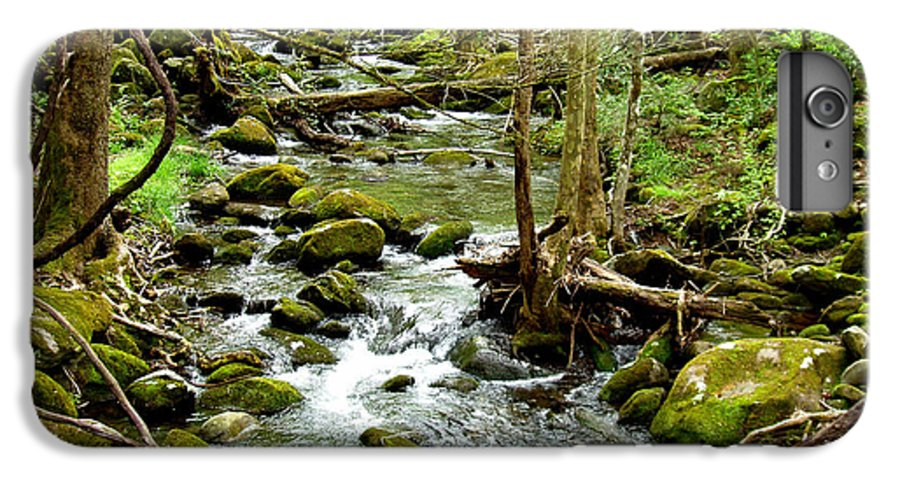 Smoky Mountains IPhone 6 Plus Case featuring the photograph Smoky Mountain Stream 1 by Nancy Mueller