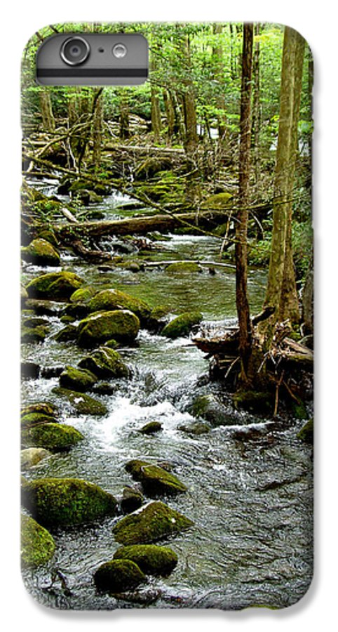River IPhone 6 Plus Case featuring the photograph Smoky Mountain Stream 2 by Nancy Mueller
