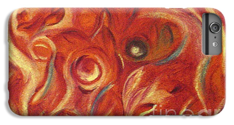Colorfull IPhone 6 Plus Case featuring the painting Snapy by Fanny Diaz