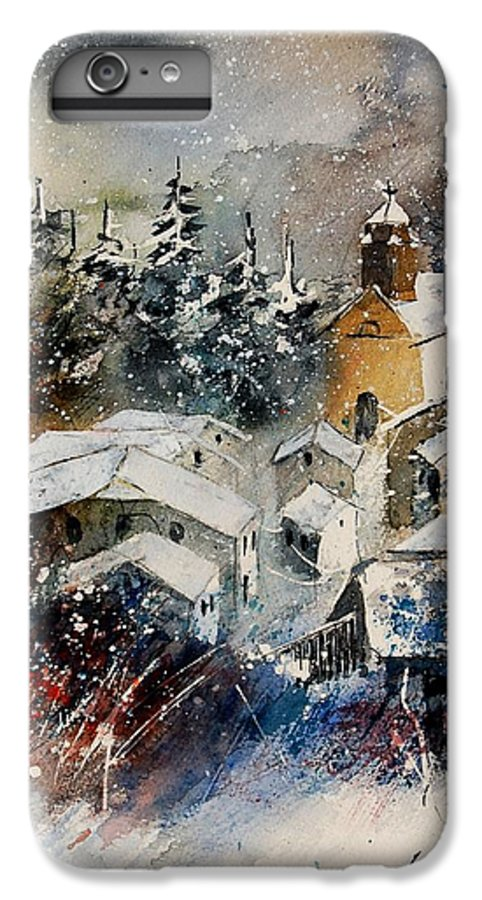 Landscape IPhone 6 Plus Case featuring the painting Snon In Frahan by Pol Ledent