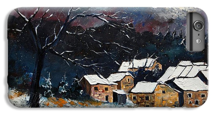 Snow IPhone 6 Plus Case featuring the painting Snow 57 by Pol Ledent