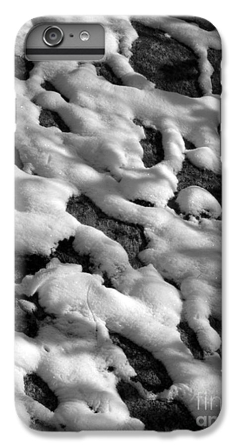 Black And White IPhone 6 Plus Case featuring the photograph Snow People by Chad Natti
