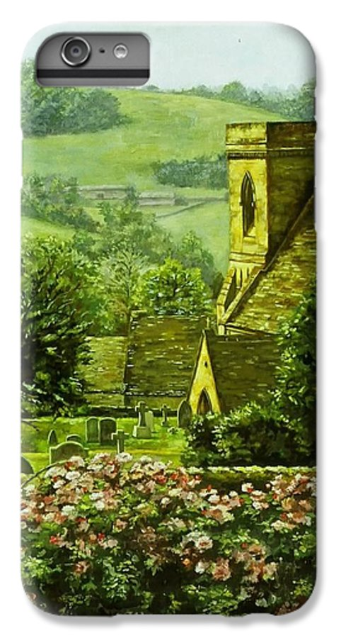 Landscape Church IPhone 6 Plus Case featuring the painting Snowshill by Ruth Stromswold