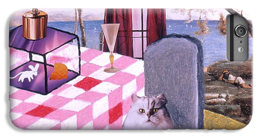 Cat IPhone 6 Plus Case featuring the drawing Soap Scene #14 Mouse In A Cage by Minaz Jantz