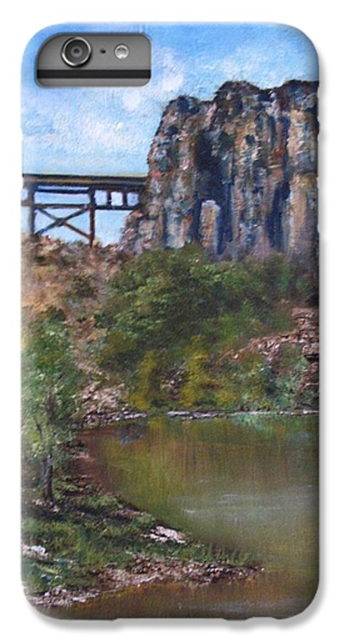 Landscape IPhone 6 Plus Case featuring the painting S.o.b Caynon by Darla Joy Johnson
