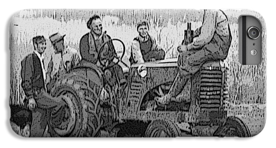 Tractor IPhone 6 Plus Case featuring the digital art Social Gathering At The Tractor by Donald Burroughs