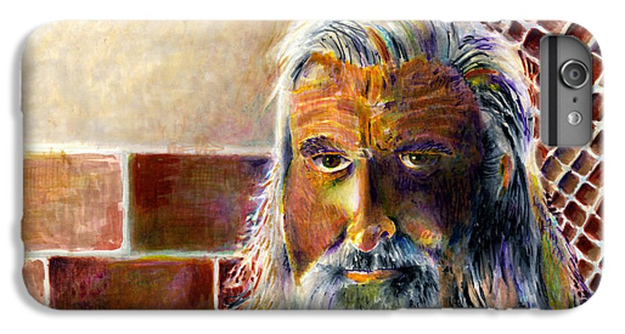 Man IPhone 6 Plus Case featuring the painting Solitary by Arline Wagner