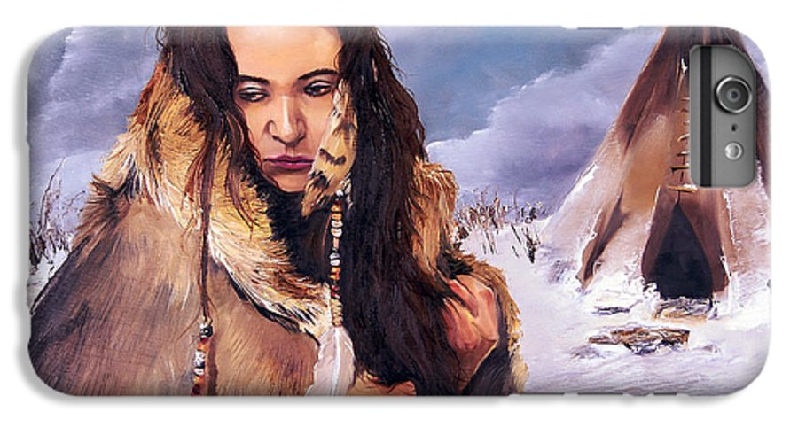 Southwest Art IPhone 6 Plus Case featuring the painting Solitude by J W Baker