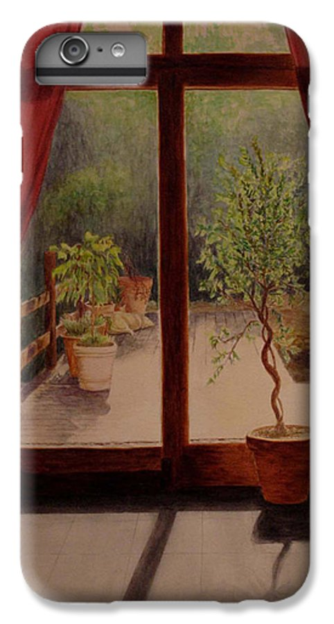 House IPhone 6 Plus Case featuring the painting Solitude by Nik Helbig