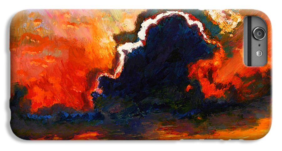 Landscape IPhone 6 Plus Case featuring the painting Some Glad Morning by John Lautermilch